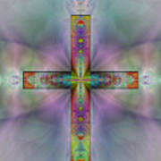 Jeweled Cross Art Print