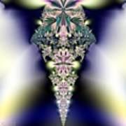 Jeweled Icicle Fractal 136 Art Print