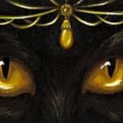 Jeweled Kitty Amber Art Print