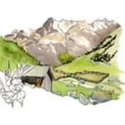 High Pastures,   Col De La Cayolle Art Print