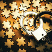Jigsaw Of Misconduct Bribery And Entanglement Art Print