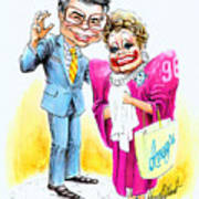 Jim And Tammy Art Print by Harry West