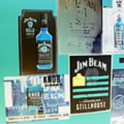 Jim Beam Signs On Display - Color Invert Art Print