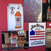Jim Beam Signs On Display Art Print