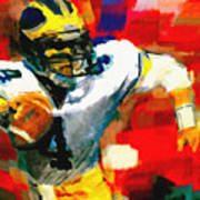 Jim Harbaugh  I Guarantee Art Print