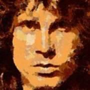 Jim Morrison - Digital Art Art Print