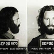 Jim Morrison Mugshot Art Print
