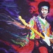 Jimi Hendrix Dissolve Art Print