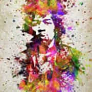 Jimi Hendrix In Color Art Print