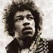 Jimi Hendrix, Legend Art Print