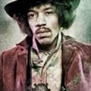 Jimi Hendrix, Music Legend Art Print