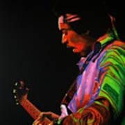 Jimi Hendrix 4 Art Print