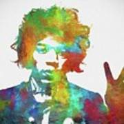 Jimi Hendrix Peace Art Print