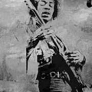 Jimi Hendrix Pop Star  Art Print