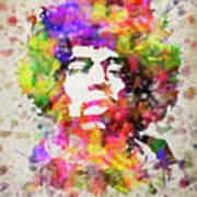 Jimi Hendrix Portrait Art Print