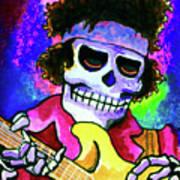 Jimi Hendrix, Soloing Art Print