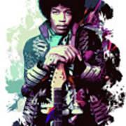 Jimi Hendrix, The Legend Art Print