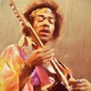 Jimi Jamming Art Print