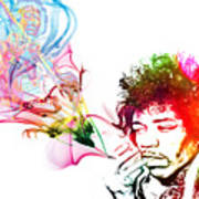 Jimmi Hendrix Art Print by The DigArtisT