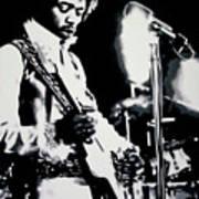 Jimmy Hendrix Purple Haze Art Print