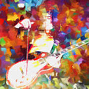 Jimmy Page Jamming Art Print