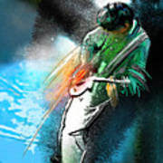 Jimmy Page Lost In Music Art Print