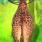 Jirafa Art Print