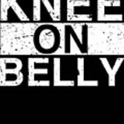 Jiu Jitsu Bjj Knee On Belly Light Art Print