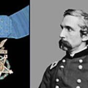 J.l. Chamberlain And The Medal Of Honor Art Print by War Is Hell Store