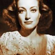 Joan Crawford, Hollywood Legends Art Print
