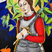 Joan Of Arc Art Print by Christina Miller