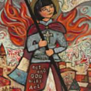 Joan Of Arc Art Print