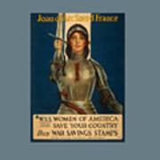 Joan Of Arc World War 1 Poster Art Print