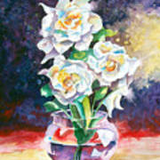 Joan's Gardenias Art Print