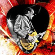 Joe Bonamassa Blue Guitar Art Art Print