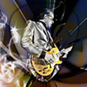 Joe Bonamassa Blue Guitarist Art Art Print