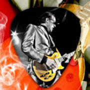 Joe Bonamassa Blues Guitar Art Art Print
