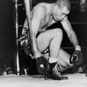 Joe Louis Last Professional Boxing Art Print by Everett
