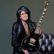 Joe Perry Of Aerosmith Painting Art Print