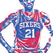 Joel Embiid Philadelphia Sixers Pixel Art 10 Art Print