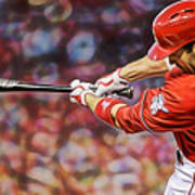 Joey Votto Baseball Art Print