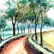 Jogging Track Art Print