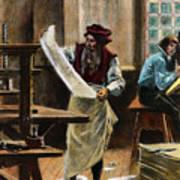 Johann Gutenberg Art Print