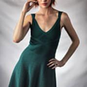 Johanne In Green Art Print