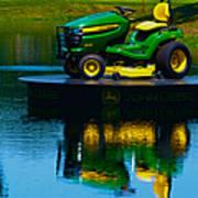 John Deere Mows The Water No 2 Art Print