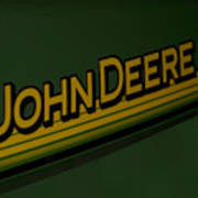 John Deere Signage Decal Art Print