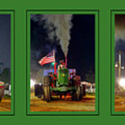 John Deere Tractor Pull Poster Art Print