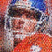 John Elway Mosaic Art Print