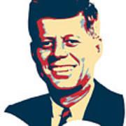 John F Kennedy Color Pop Art Art Print
