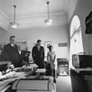 John Kennedy And Others Watching Art Print